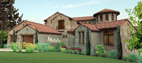 Italian mediterranean tuscan house plan 65881 for Home plans com