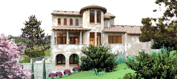 Plan 65881 Tuscan Style House Plan With 4 Bed 5 Bath