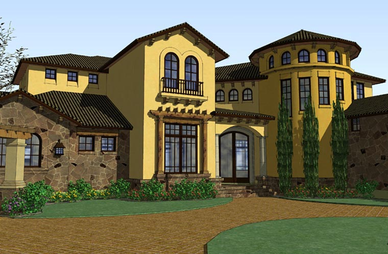 Italian Mediterranean Traditional House Plan 65882 Elevation