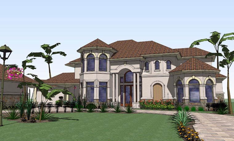 Mediterranean House Plan 65885 Elevation