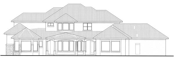 Mediterranean House Plan 65885 Rear Elevation