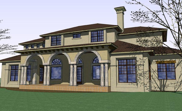 Mediterranean Traditional House Plan 65886 Rear Elevation