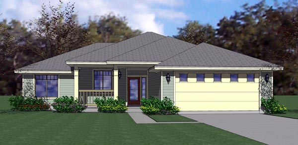 Cottage, Country, Traditional House Plan 65890 with 3 Beds, 2 Baths, 2 Car Garage Elevation