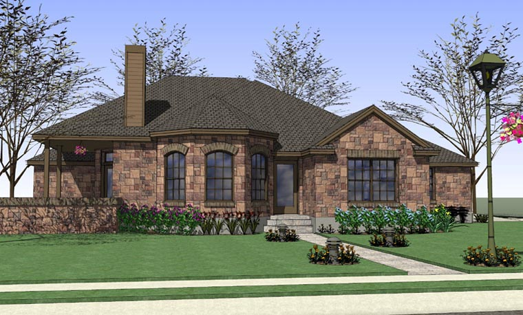 Coastal, Country, Traditional House Plan 65891 with 4 Beds, 2 Baths, 2 Car Garage Elevation