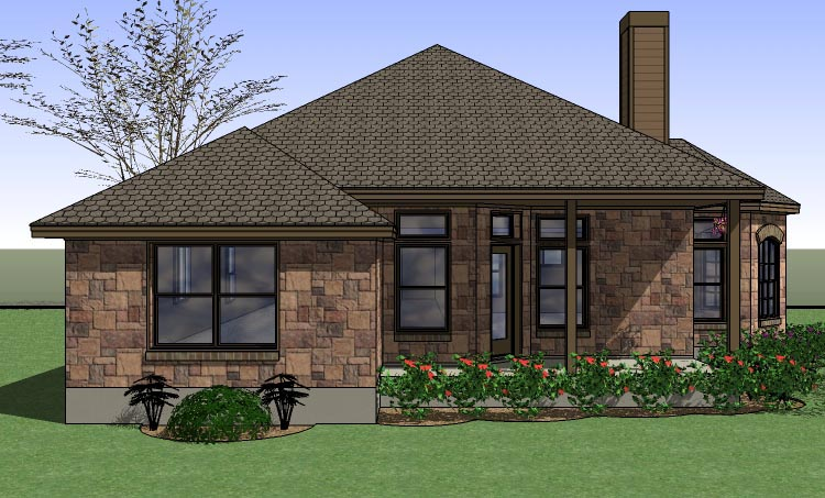Coastal, Country, Traditional House Plan 65891 with 4 Beds, 2 Baths, 2 Car Garage Picture 1