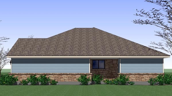 Cottage, Craftsman, Traditional House Plan 65892 with 4 Beds, 2 Baths, 2 Car Garage Picture 2