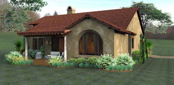 Cottage European Mediterranean Tuscan House Plan 65893