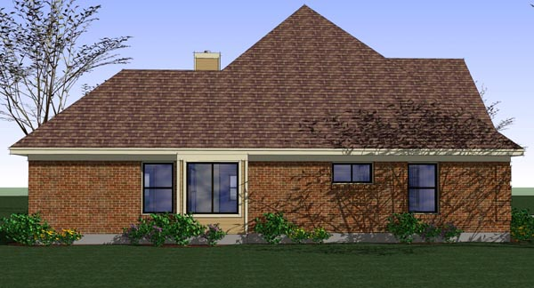 Coastal, Colonial, Traditional House Plan 65896 with 3 Beds, 2 Baths, 2 Car Garage Picture 1