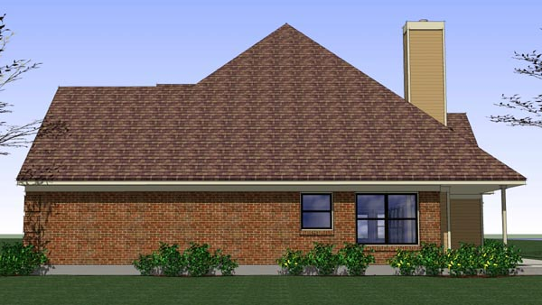 Coastal, Colonial, Traditional House Plan 65896 with 3 Beds, 2 Baths, 2 Car Garage Picture 2