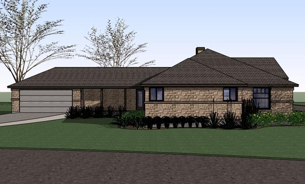 Country, Southern, Traditional House Plan 65897 with 4 Beds, 2 Baths, 2 Car Garage Picture 1