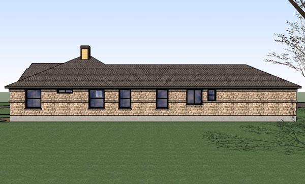 Country, Southern, Traditional House Plan 65897 with 4 Beds, 2 Baths, 2 Car Garage Picture 2