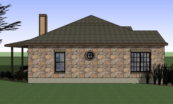 Cottage, Country, Traditional House Plan 65898 with 3 Beds, 2 Baths, 2 Car Garage Picture 1