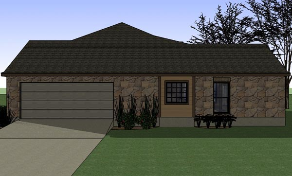 Cottage, Country, Traditional House Plan 65898 with 3 Beds, 2 Baths, 2 Car Garage Picture 2