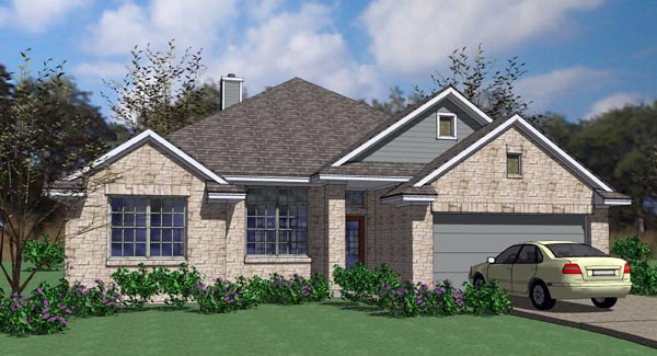 Cottage , Country , Traditional , Elevation of Plan 65899