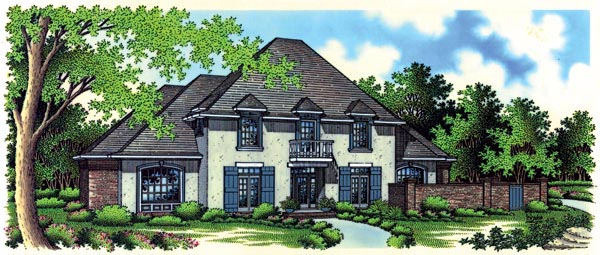 European House Plan 65900 Elevation
