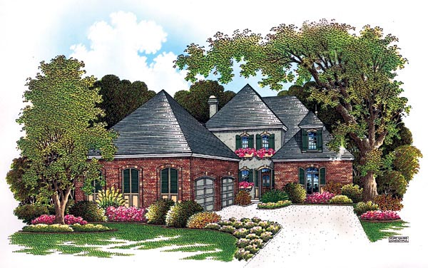 European House Plan 65901 Elevation