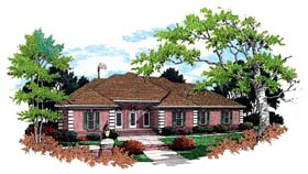 European House Plan 65902 Elevation