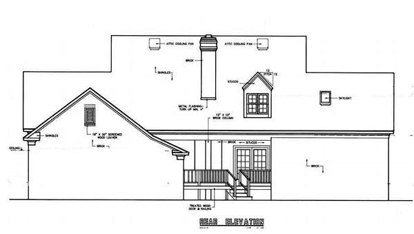 Country House Plan 65903 Rear Elevation