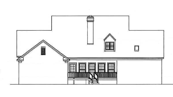Country House Plan 65907 Rear Elevation