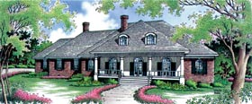 Country House Plan 65912 with 3 Beds, 4 Baths, 2 Car Garage Elevation