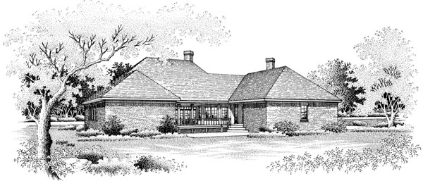 Country House Plan 65912 Rear Elevation