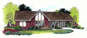 Ranch House Plan 65914 Elevation