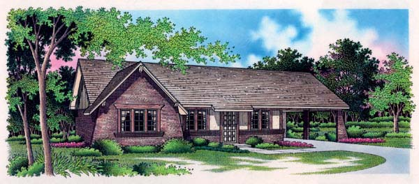 Tudor House Plan 65915 Elevation
