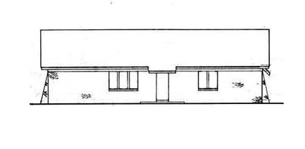 Tudor House Plan 65915 Rear Elevation