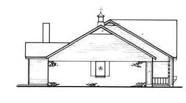 One-Story, Ranch House Plan 65916 with 3 Beds, 2 Baths, 2 Car Garage Picture 1