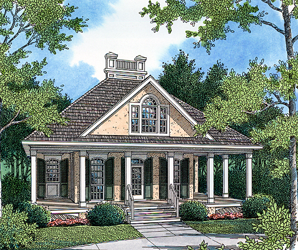 House Plan 65917 Elevation