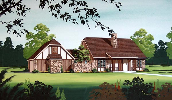 House Plan 65921 Elevation