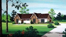 House Plan 65924 | Style Plan with 1701 Sq Ft, 4 Bedrooms, 2 Bathrooms, 2 Car Garage Elevation