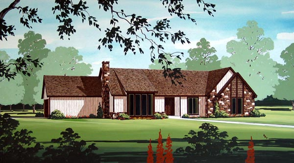 Ranch House Plan 65925 Elevation