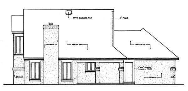 House Plan 65926 Rear Elevation