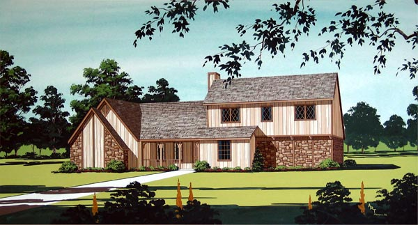 House Plan 65927 Elevation