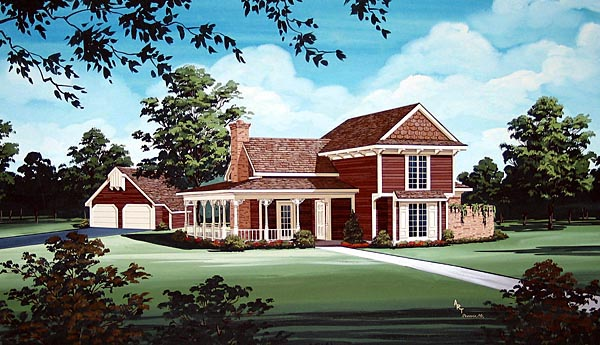 House Plan 65930 Elevation