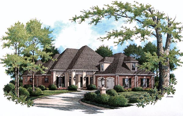 House Plan 65933 Elevation