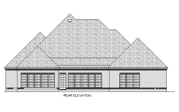 House Plan 65933 Rear Elevation