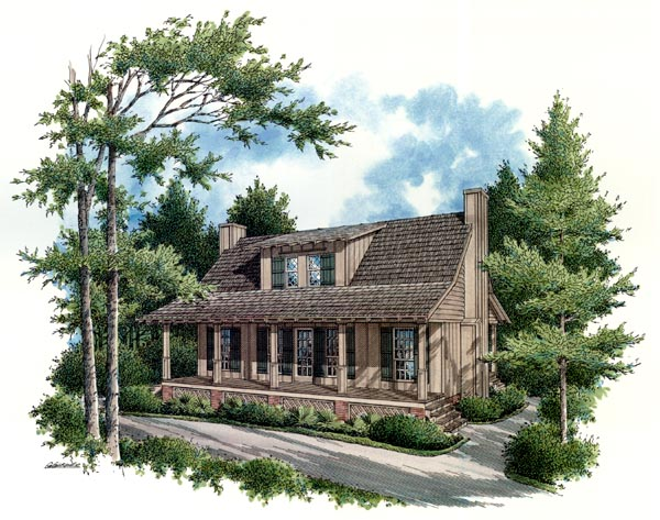House Plan 65935 Elevation
