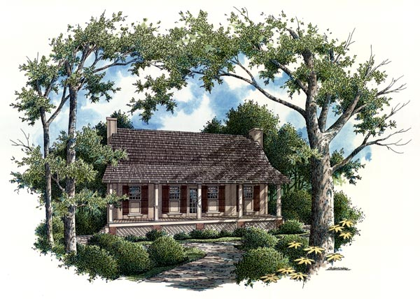 House Plan 65935 Rear Elevation
