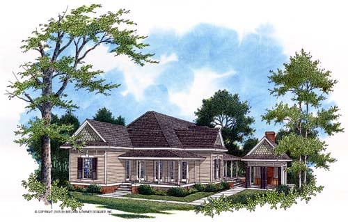 House Plan 65936 with 3 Beds, 3 Baths, 2 Car Garage Elevation