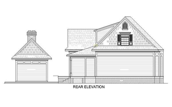 House Plan 65936 Rear Elevation