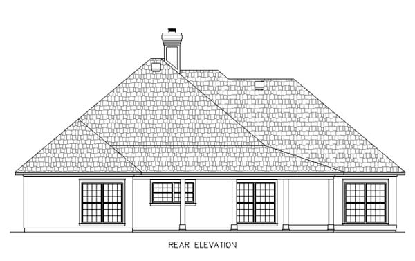 House Plan 65937 Rear Elevation