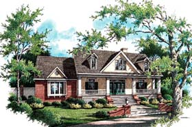 House Plan 65938 with 3 Beds, 2 Baths, 2 Car Garage Elevation