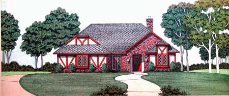 House Plan 65940 with 3 Beds, 2 Baths, 2 Car Garage Elevation