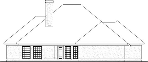 House Plan 65941 Rear Elevation