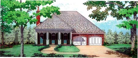 House Plan 65942 Elevation