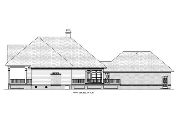 House Plan 65943 Rear Elevation