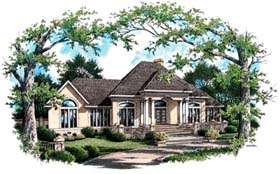 House Plan 65946 | Style Plan with 2168 Sq Ft, 4 Bedrooms, 4 Bathrooms, 2 Car Garage Elevation
