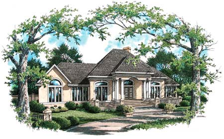 House Plan 65946 Elevation